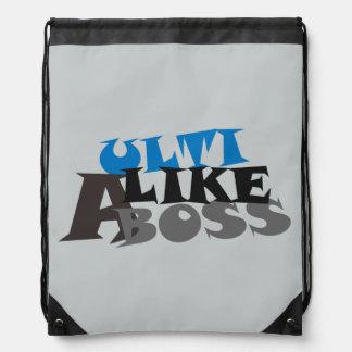 Ulti Like a Boss (light) Bag Drawstring Backpack