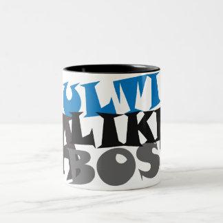 Ulti Like a Boss Two-Tone Coffee Mug