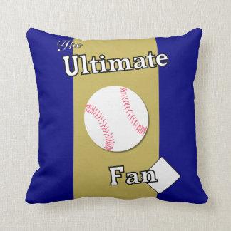 Ultimate Baseball Fan Deep Pacific Sunset Throw Pillow