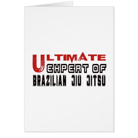 Ultimate Expert Of Brazilian Jiu Jitsu. Card