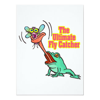 ultimate fly catcher funny frog invitations