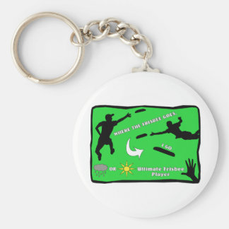 Ultimate Frisbee Keychain