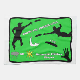 Ultimate Frisbee Rain or Shine Kitchen Towel