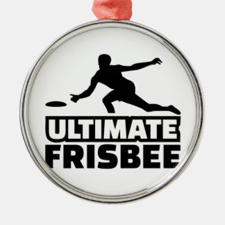 Ultimate Frisbee Silver-Colored Round Ornament