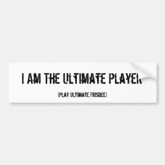 Ultimate Frisbee Ultimate Player Bumper Sticker