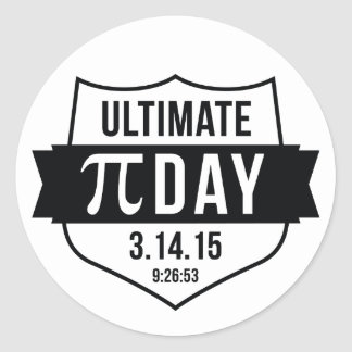 Ultimate Pi Day 2015 Classic Round Sticker