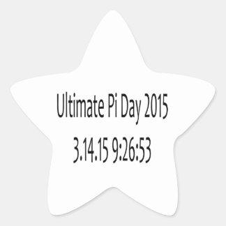 Ultimate Pi Day 2015 Image Star Sticker