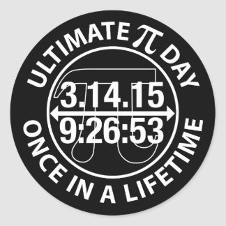 Ultimate Pi Day 2015 Round Stickers