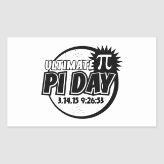 Ultimate Pi Day Rectangular Stickers