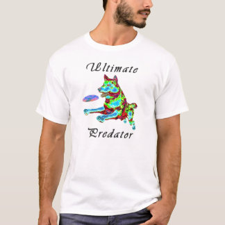"""Ultimate Predator"" psychedelic wolf design T-Shirt"