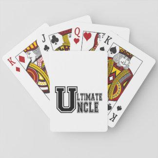 Ultimate Uncle in Black Poker Deck