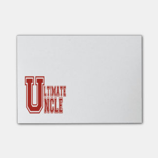 Ultimate Uncle in Off Red Post-it Notes