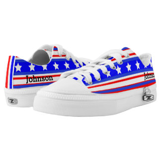 Ultimate USA Stars and Stripes Patriot Blue Low-Top Sneakers