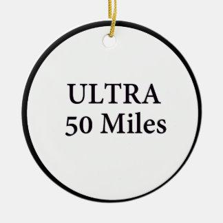 ultra 50 miles circle ceramic ornament
