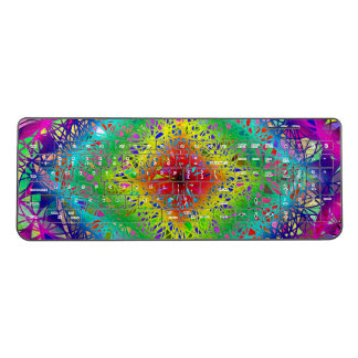 Ultra colorful psychedelic crystal shape wireless keyboard