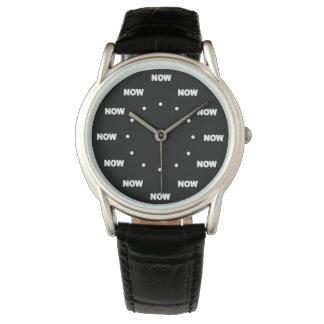 "Ultra Cool ""NOW"" (Black Background) #6 Wrist Watch"