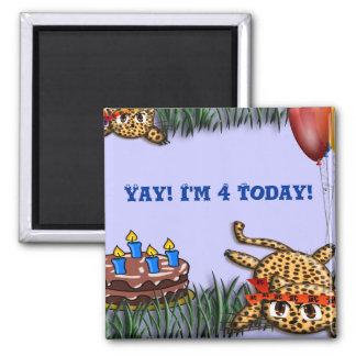 Ultra Cute Leopard Safari Birthday Invitations Magnet