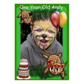 Ultra Cute Leopard Safari Birthday Invitations Wit Business Cards