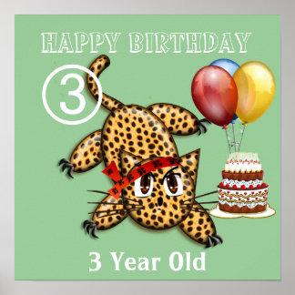 Ultra Cute Leopard Safari Birthday Invitations Wit Posters