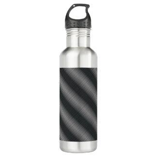 Ultra Thin Black & White Gradation Lines 710 Ml Water Bottle