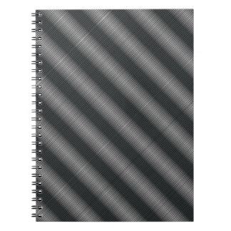 Ultra Thin Black & White Gradation Lines Spiral Notebook