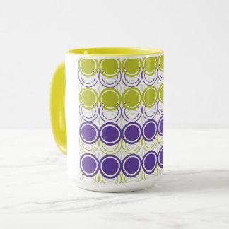Ultra violet and green circles mug
