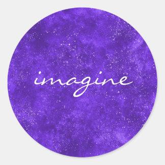 Ultra violet custom sticker