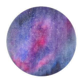 Ultra violet galaxy Glass Cutting Board