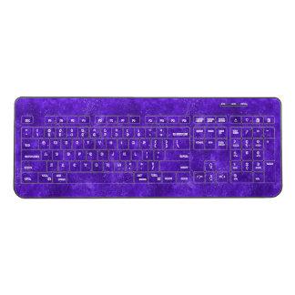 Ultra violet galaxy keyboard