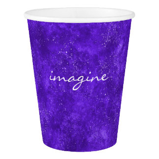Ultra violet galaxy papaer cup