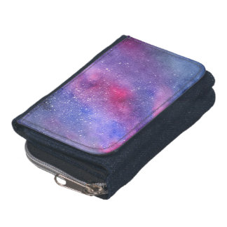 Ultra violet galaxy wallet with coin purse