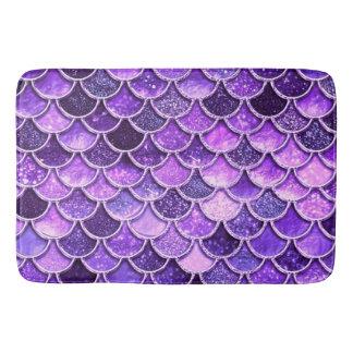 Ultra Violet Glitter Mermaid Scales Bath Mat