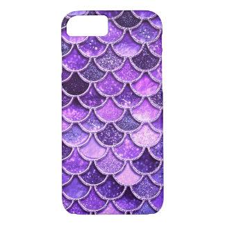 Ultra Violet Glitter Mermaid Scales Case-Mate iPhone Case