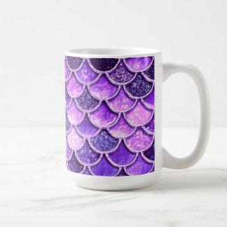 Ultra Violet Glitter Mermaid Scales Coffee Mug