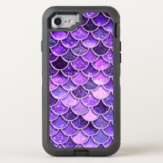 Ultra Violet Glitter Mermaid Scales OtterBox Defender iPhone 8/7 Case