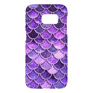 Ultra Violet Glitter Mermaid Scales Samsung Galaxy S7 Case