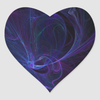 Ultra violet heart sticker