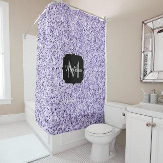 Ultra violet light purple glitter sparkle Monogram