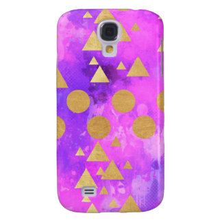 ultra violet, modern,purple,pink,gold,round,triang