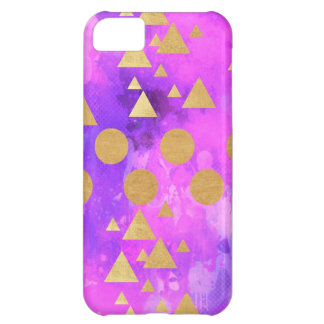 ultra violet, modern,purple,pink,gold,round,triang cover for iPhone 5C