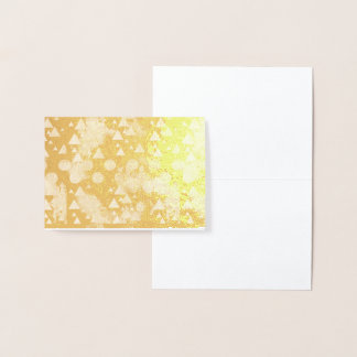 ultra violet, modern,purple,pink,gold,round,triang foil card