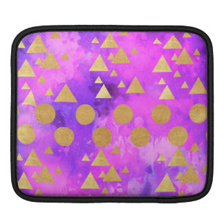 ultra violet, modern,purple,pink,gold,round,triang iPad sleeve