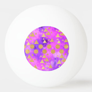 ultra violet, modern,purple,pink,gold,round,triang ping pong ball