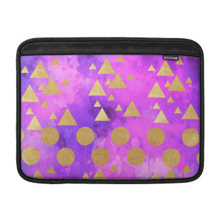 ultra violet, modern,purple,pink,gold,round,triang sleeve for MacBook air