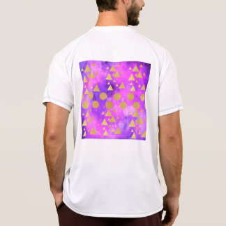 ultra violet, modern,purple,pink,gold,round,triang T-Shirt