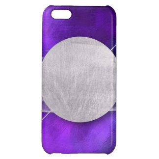 ultra violet, modern,purple,triangle,silver,trendy iPhone 5C cover