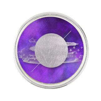 ultra violet, modern,purple,triangle,silver,trendy lapel pin