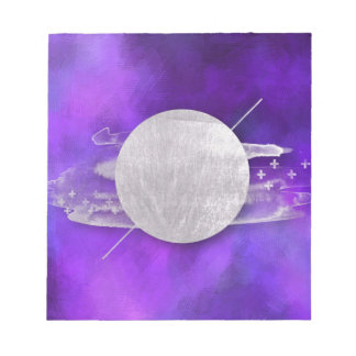 ultra violet, modern,purple,triangle,silver,trendy notepad