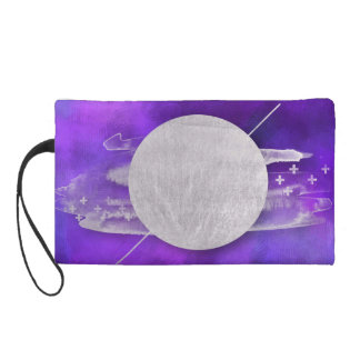 ultra violet, modern,purple,triangle,silver,trendy wristlet