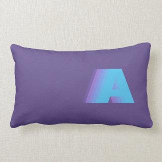 Ultra Violet Monogram Bold Gradient Custom Lumbar Pillow